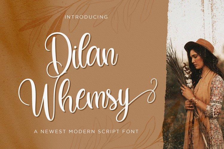 Dilan Whemsy - Modern Script Font example image 1
