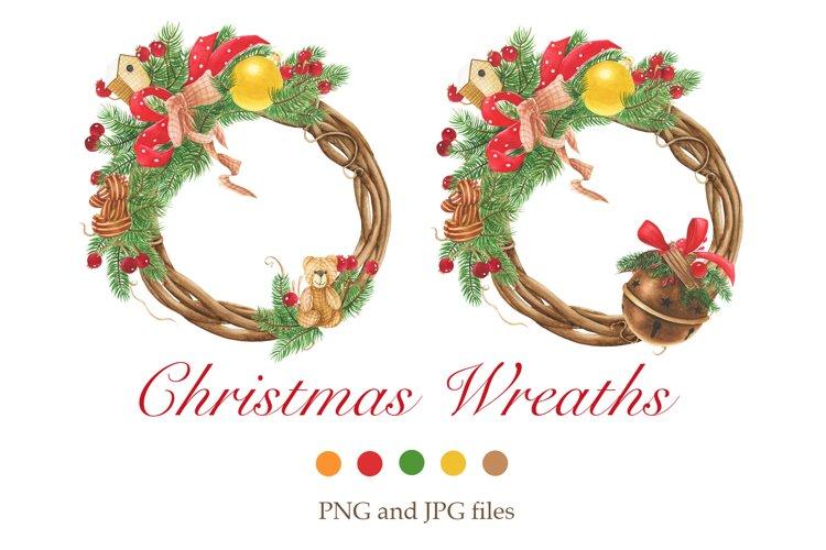 Christmas wreaths clip art #1 example image 1