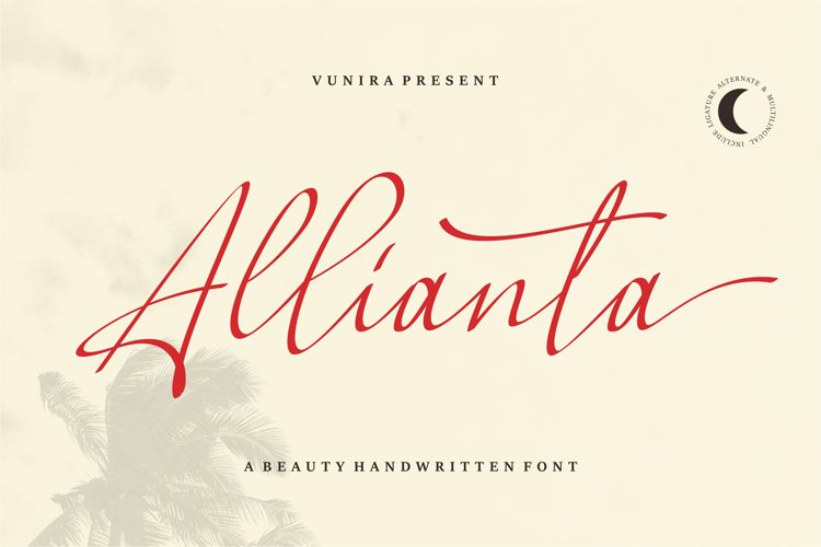 Allianta | A Beauty Handwritten Font example image 1