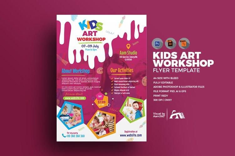 Kids Art Workshop Flyer example image 1
