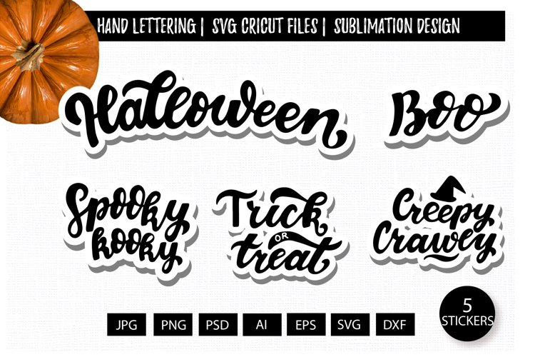 Halloween quotes svg. Digital stickers set. Kids prints svg example image 1