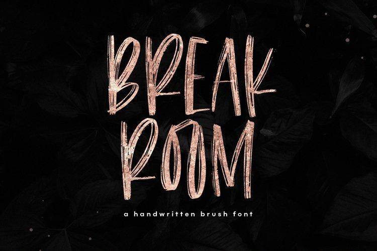 Breakroom - A Bold Handwritten Brush Font example image 1