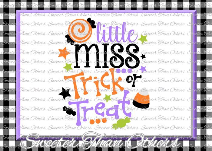 Halloween svg, Little Miss Trick or Treat svg example image 1