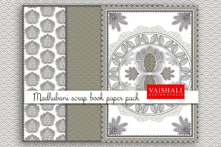 MADHUBANI prints, Indian folk art, set of 3 prints