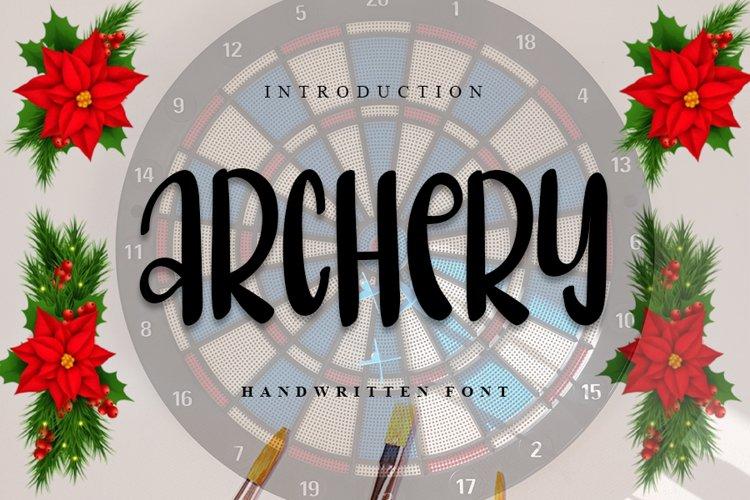 Archery   Handwritten Font example image 1