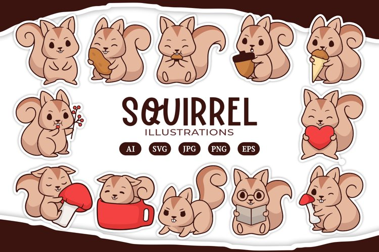 Squirrel Illustrations example image 1