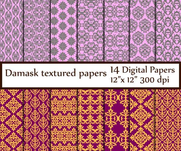 Damask Digital Paper example image 1