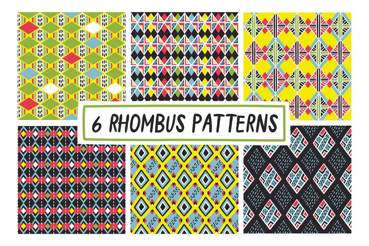 6 RHOMBUS PATTERNS example image 1