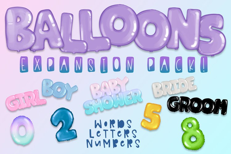 Balloons Expansion Pack| Expansion Pack for Build a Bundles example image 1