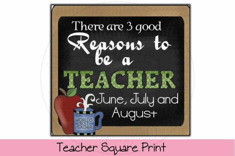 Teacher Square Print example image 1