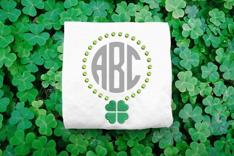 Shamrock St. Patricks Day Monogram Frame Embroidery Design