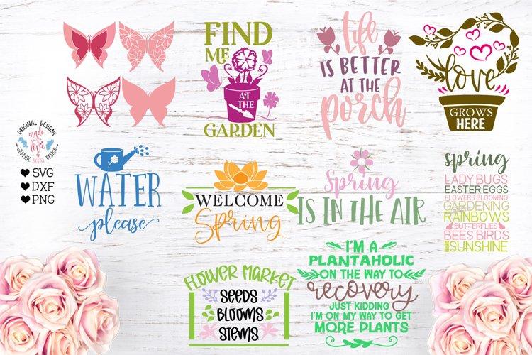 Spring Garden Cut Files Bundle - Sublimation Bundle