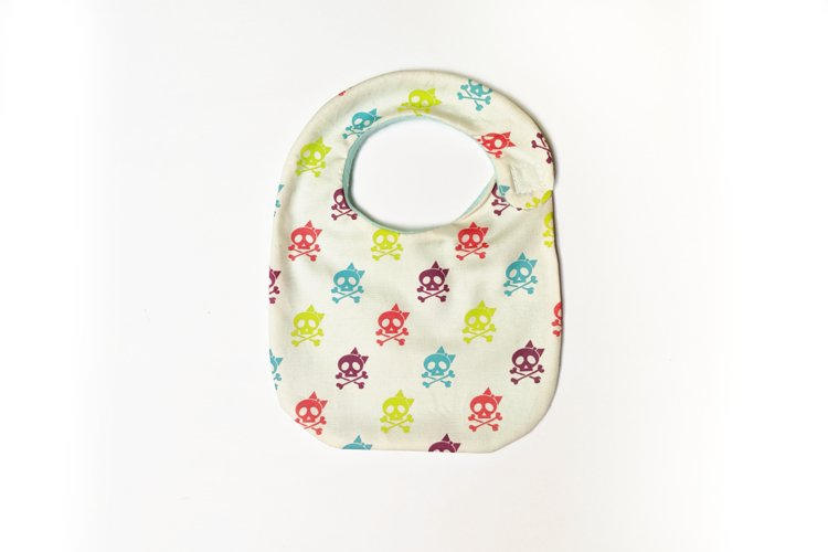 Baby Bib ITH Applique Embroidery Design File example image 1