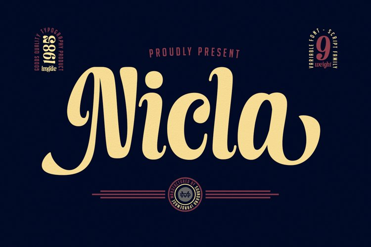 Nicla - Beautiful Script Family