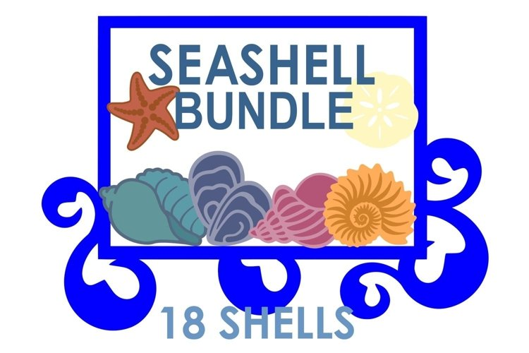 Seashell Beach Cruise Ocean Bundle Scrapbook SVG Cut File