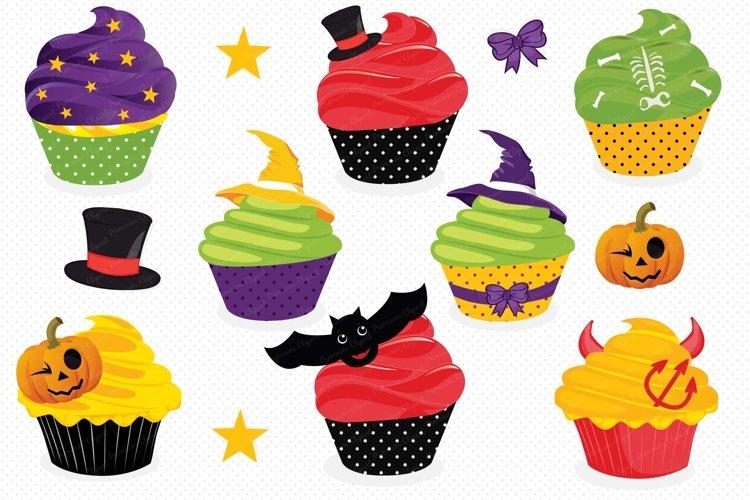 Halloween cupcake clipart, Haloween cupcake graphics example image 1