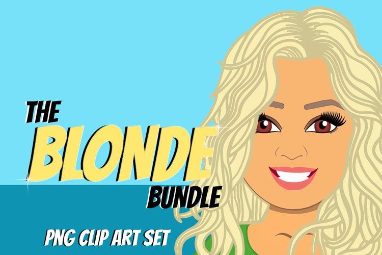 Blonde Woman Clip Art Bundle | Female Avatar | Graphic
