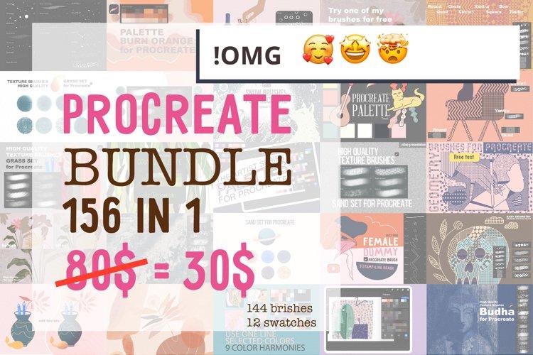 OMG! Procreate BUNDLE 168in1