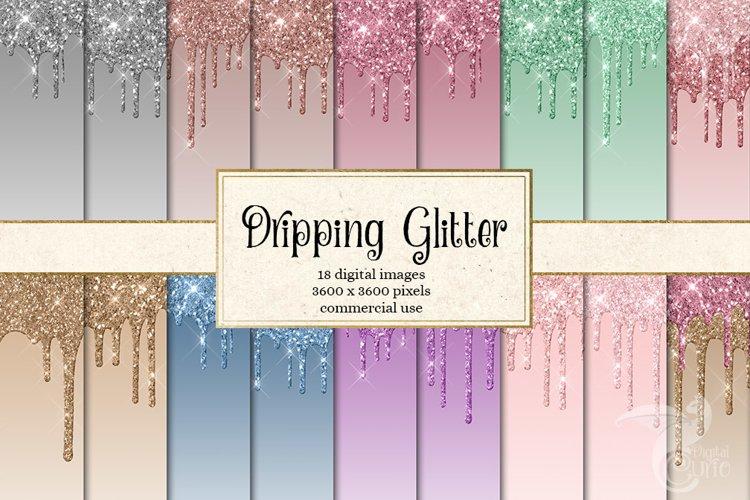 Dripping Glitter Digital Paper