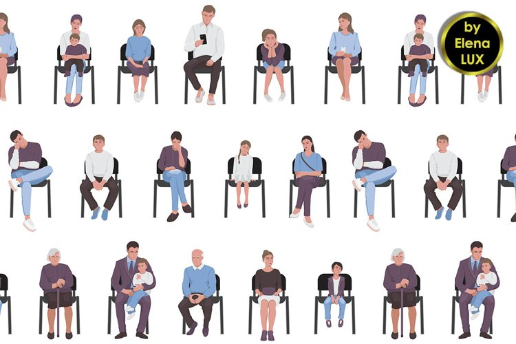 Seamless pattern of people example image 1