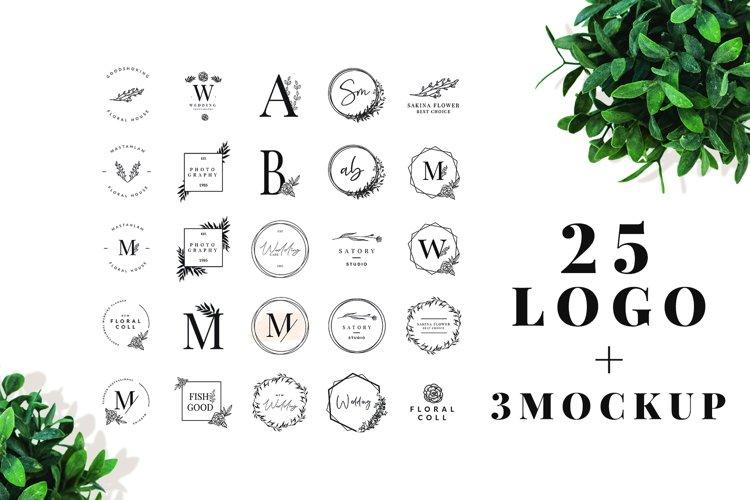 25 Elegant Logos 3 Quality Mockups example image 1