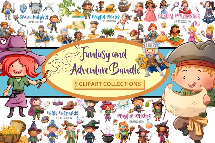 Fantasy and Adventure Bundle! Pirates, Witches, Knights...