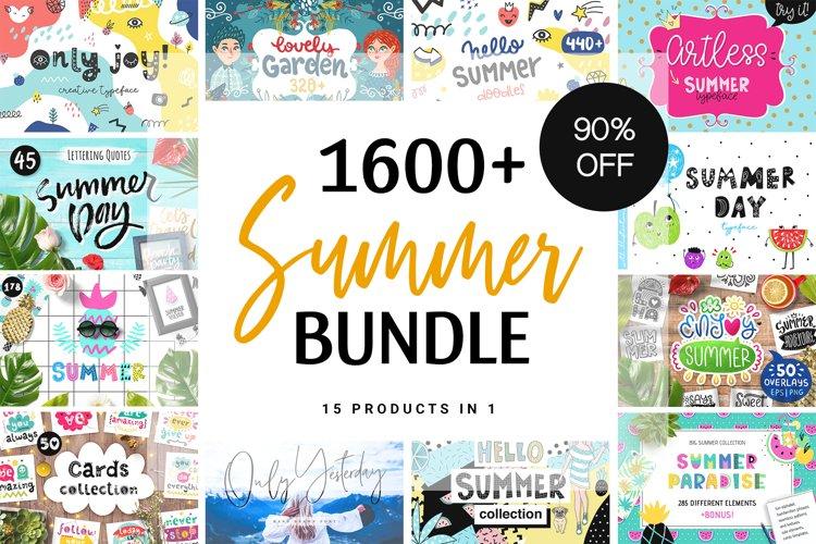 Summer Bundle - Graphics & Fonts!