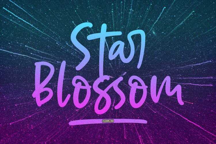 Star Blossom - A Modern Script Font. example image 1