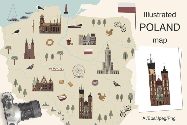Illustrated Poland map