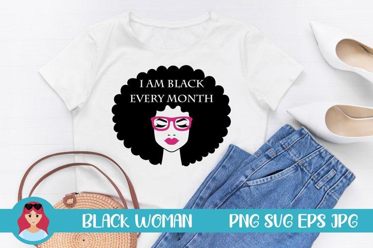 Black Woman Illustration SVG Women Power