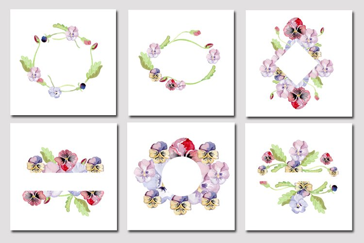 Pansies-clipart