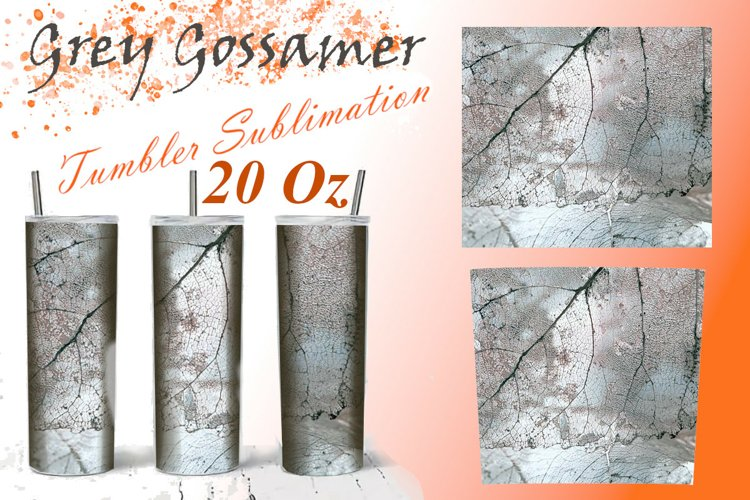 20 Oz Tumbler Sublimation, Grey Gossamer