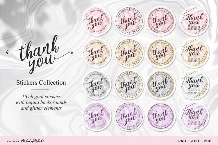 Elegant Thank You Printable Stickers for Cricut