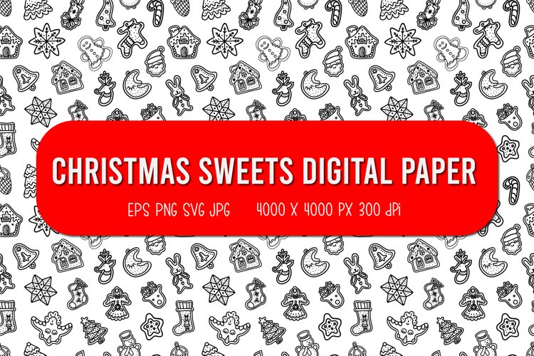 Pattern of Ginger Cookies | Christmas seamless pattern example image 1