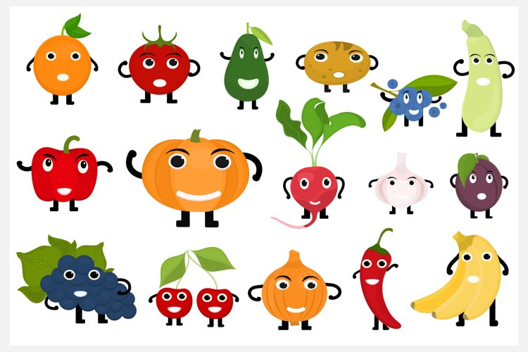 Fruits and Vegetables Characters