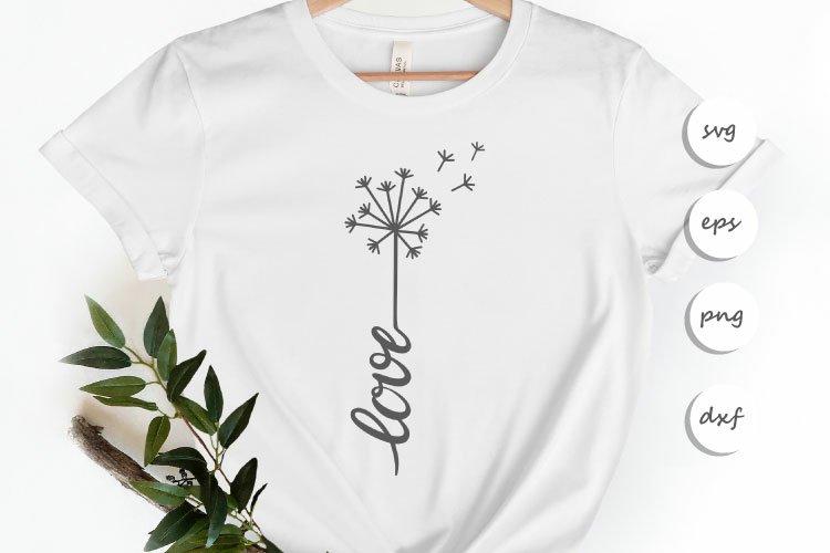 Love Dandelion SVG