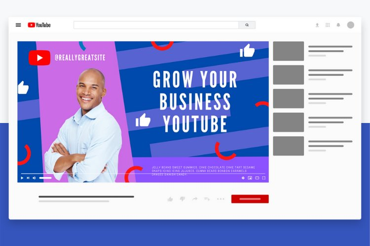 5 Grow Your Business YouTube Thumbnail Canva Templates example 2