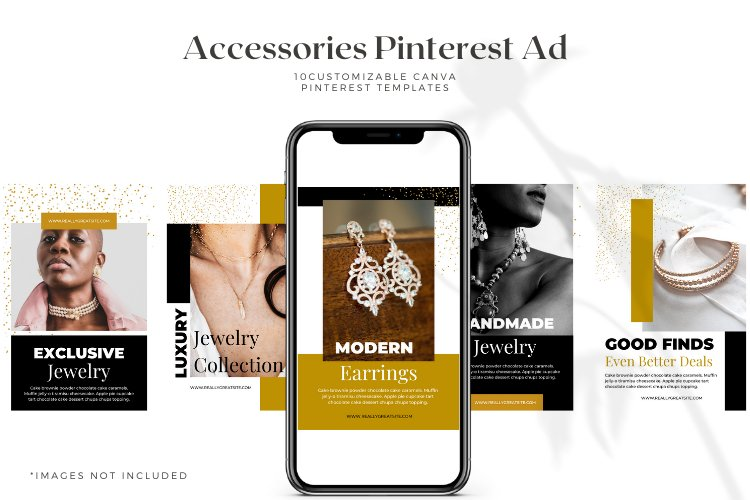 10 Customizable Pinterest Ads - Canva Templates example 1