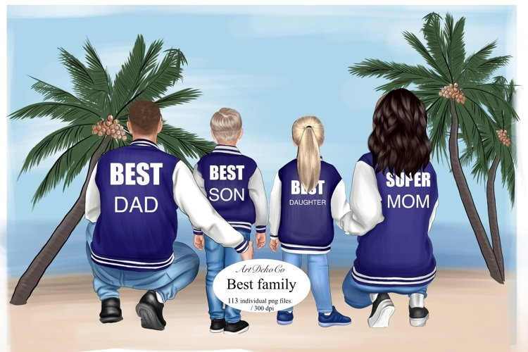 Fathers day clipart, Family clipart, custom clipart.
