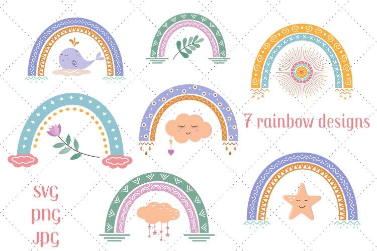 Baby rainbow svg bundle - 7 variants
