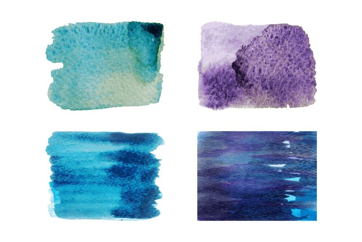 Watercolor paintbrush paint stains, for your text and design