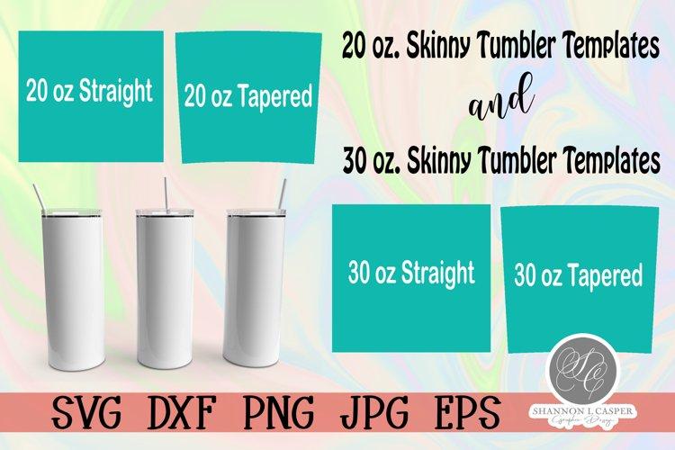 Skinny Tumbler Wrap Templates for 20 oz and 30 oz.