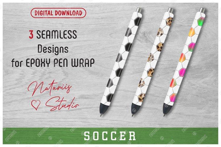 3 Seamless Soccer Patterns for Epoxy Pen Wrap