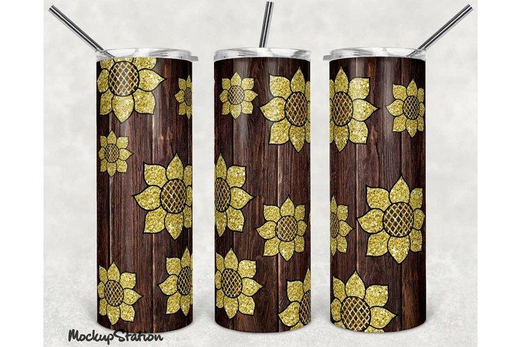 Sunflower Tumbler Sublimation Design PNG