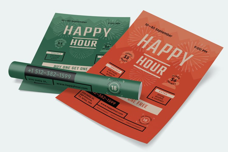 Happy Hour Beer Festival Poster example image 1