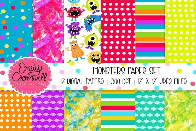 Monsters Digital Paper Set