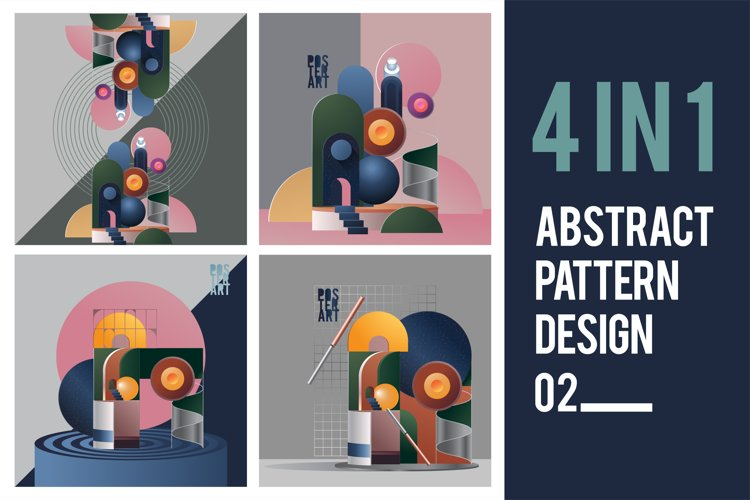 Abstract Pattern Design. Bundles 02