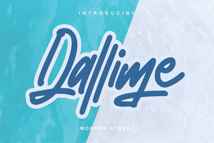 Dallime | Modern Street Font example image 1