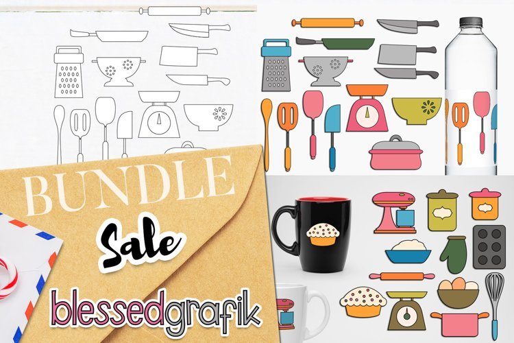 Cooking and Baking Utensils Illustrations Bundle example image 1