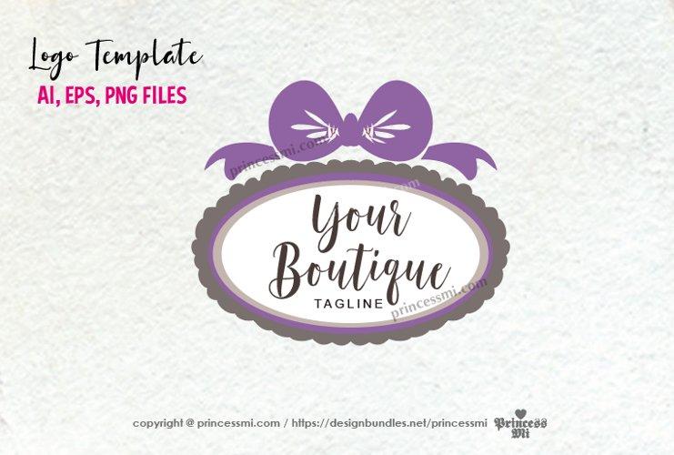 business logo template, bow frame border logo design